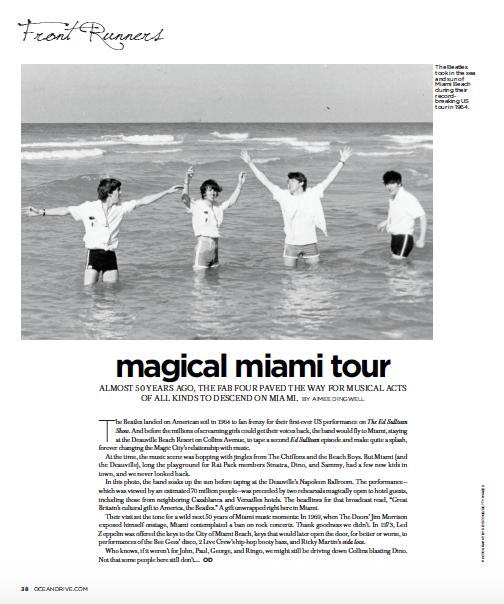 Magical Miami Tour | Ocean Drive Magazine