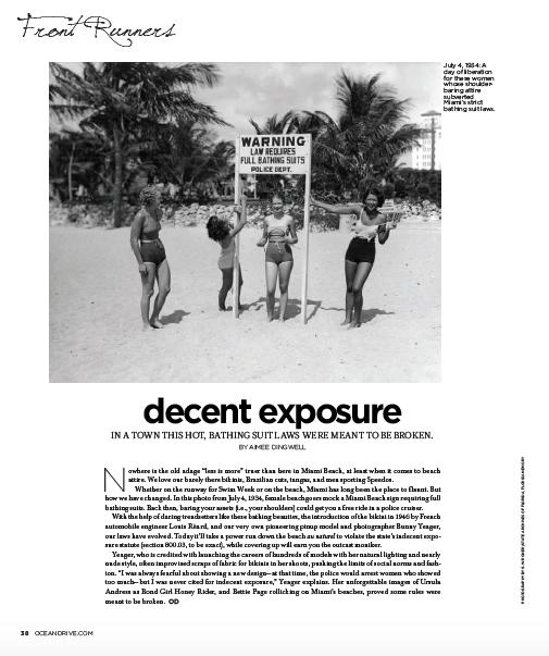 Decent Exposure | Ocean Drive Magazine