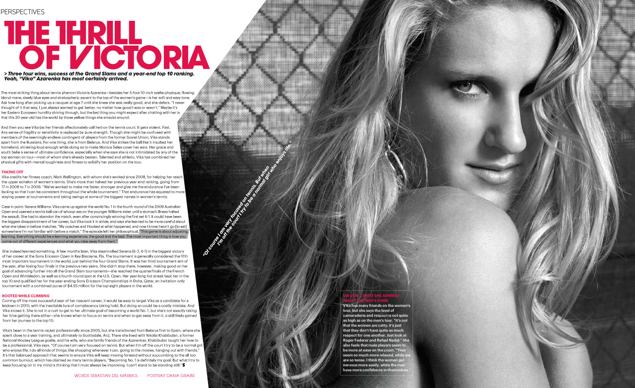 Victoria Azarenka  - Cover Feature