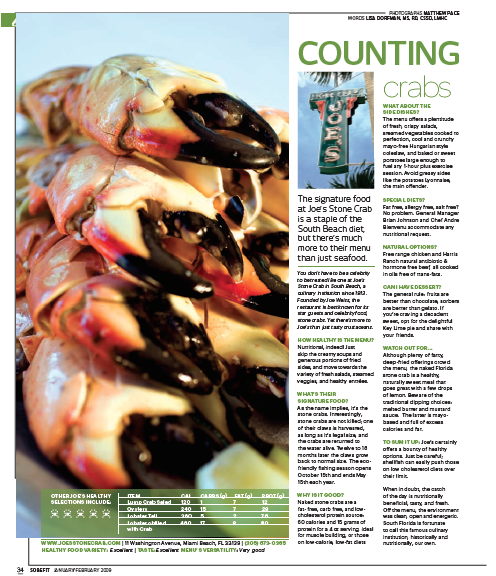 Fit Gourmet - Joe's Stone Crabs