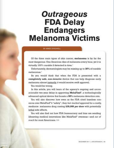 MelaFind - Melanoma Device Investigative Report